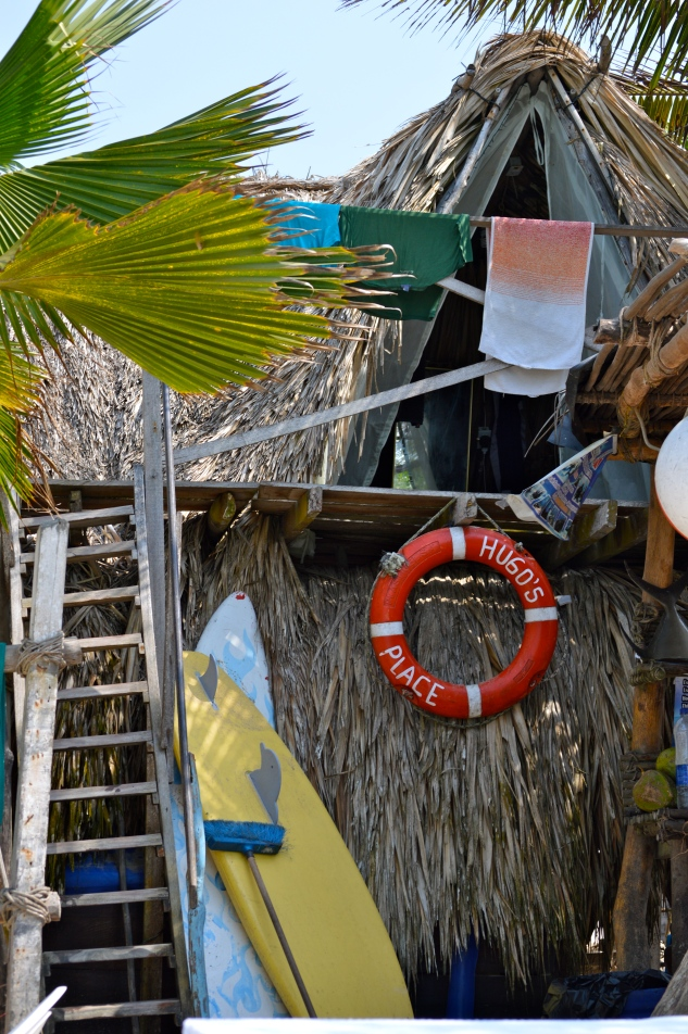 The beach bungalows we stayed at on Isla Baru.