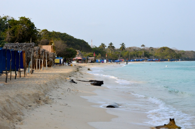 Morning on Playa Blanca minus the tourists and vendors.